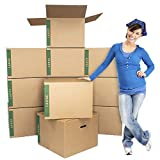 Large Moving Boxes Pack of 12 with Handles– 20'...