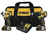 DEWALT ATOMIC 20V MAX Combo Kit with Hammer Drill...