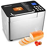Nictemaw Bread Machine, 2LB 25-in-1 Stainless...