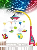 UNIH Baby Crib Mobile with Lights and Music, Moon...