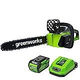 Greenworks G-MAX 40V 16-Inch Cordless Chainsaw,...