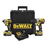 DEWALT 20V MAX XR Cordless Drill Combo Kit,...