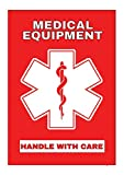 Medical Equipment Luggage Sticker Height 3 inches...