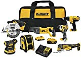 DEWALT 20V MAX Cordless Drill Combo Kit , 7-Tool...