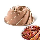 Vinchef Novelty Swirl Bundt Pan Nonstick, 10 cup...