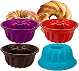 Nicunom 4 Pack Silicone Baking Molds, 9' Silicone...