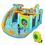 JOYMOR Inflatable Water Slide Park, Pirate Themed...