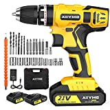 Cordless Drill, AIIYME 21V Impact Drill 706In-lbs...