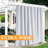 RYB HOME Outdoor White Curtains - Extra Wide...