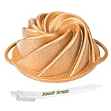 Desenla Bundt Pan Nonstick With Handles, 10 Cup,...