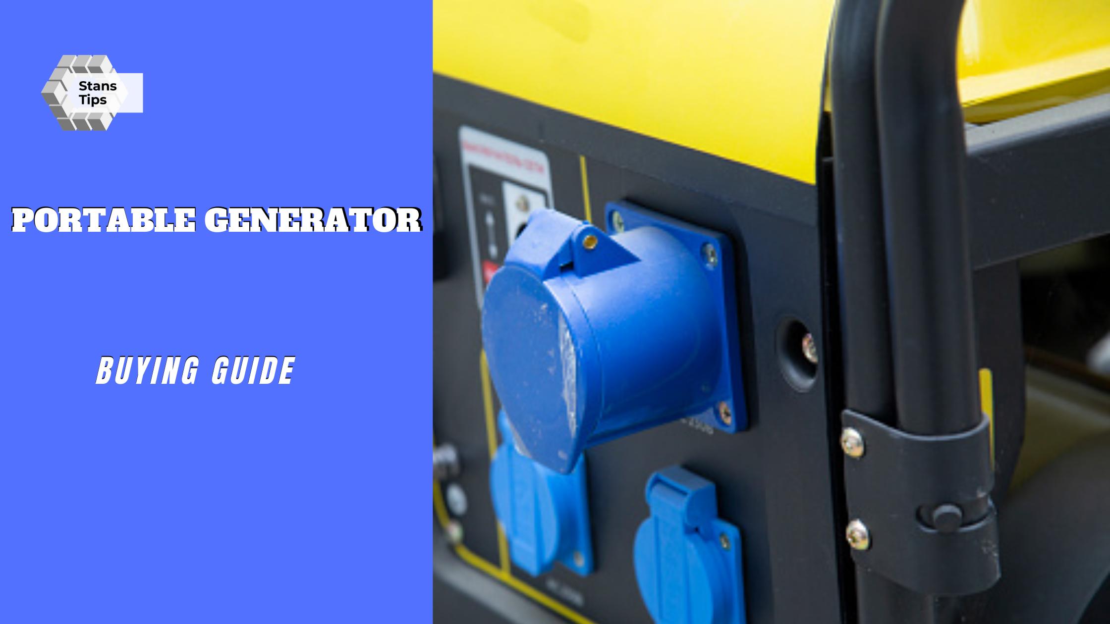 Portable generator buying guides