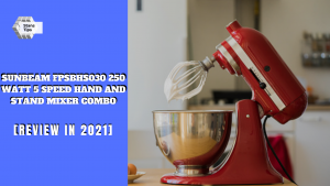 Sunbeam fpsbhs030 250 watt 5 speed hand and stand mixer combo