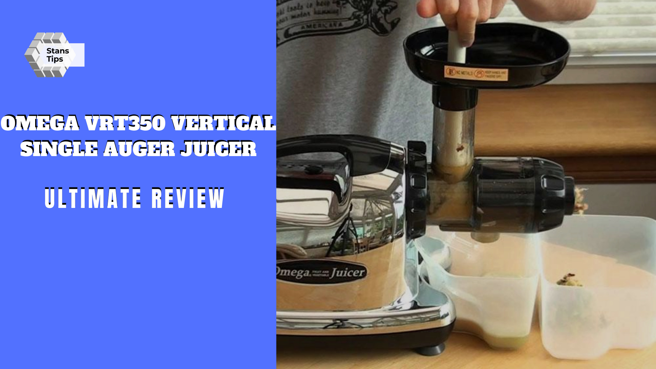 Omega vrt350 vertical single auger juicer review