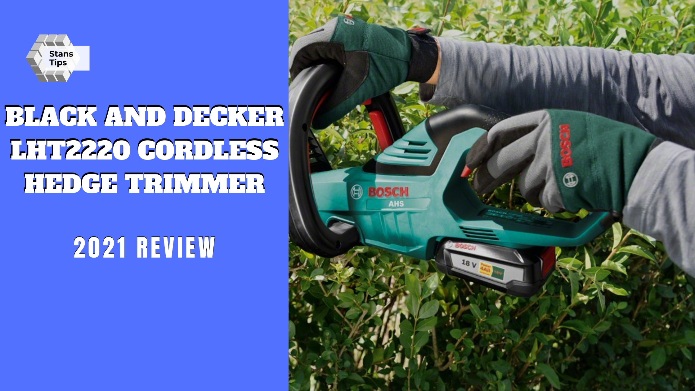 Black and decker lht2220 cordless hedge trimmer review