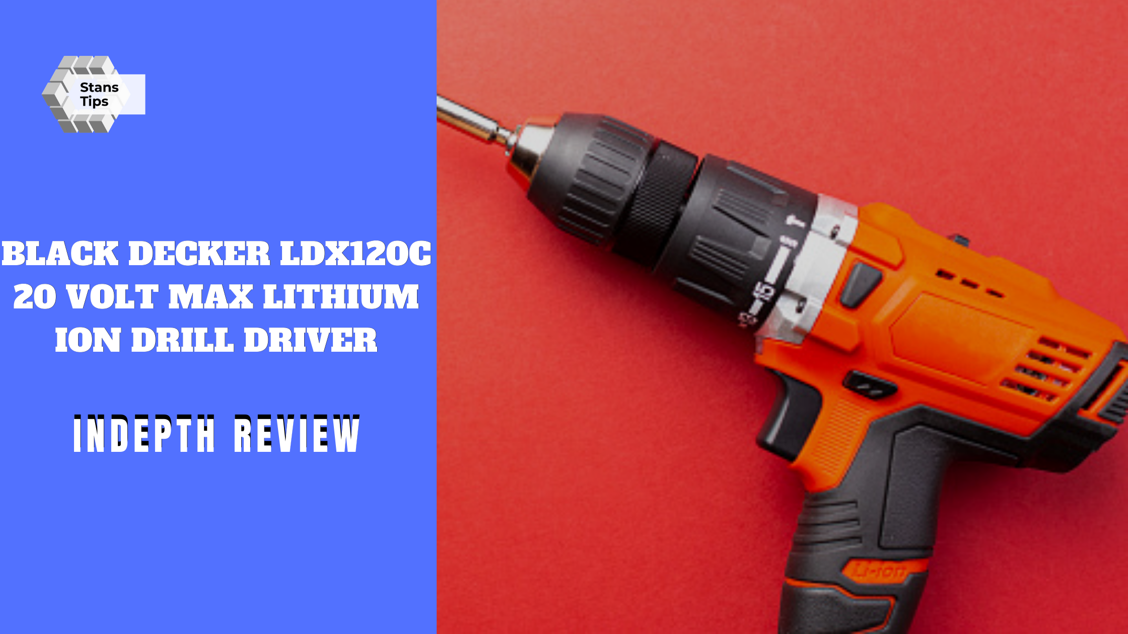Black decker ldx120c 20 volt max lithium ion drill driver review