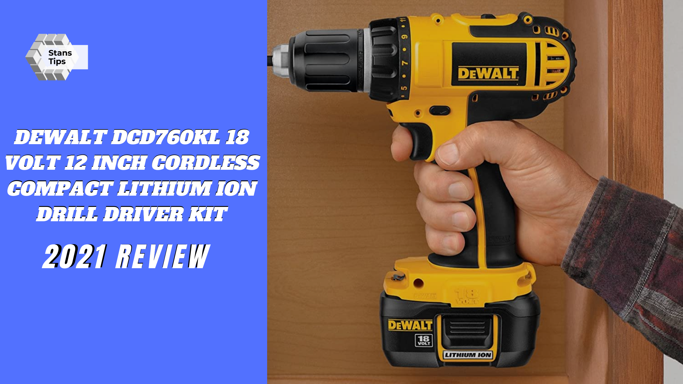 Dewalt dcd760kl 18 volt 12 inch cordless compact lithium ion drill driver kit review