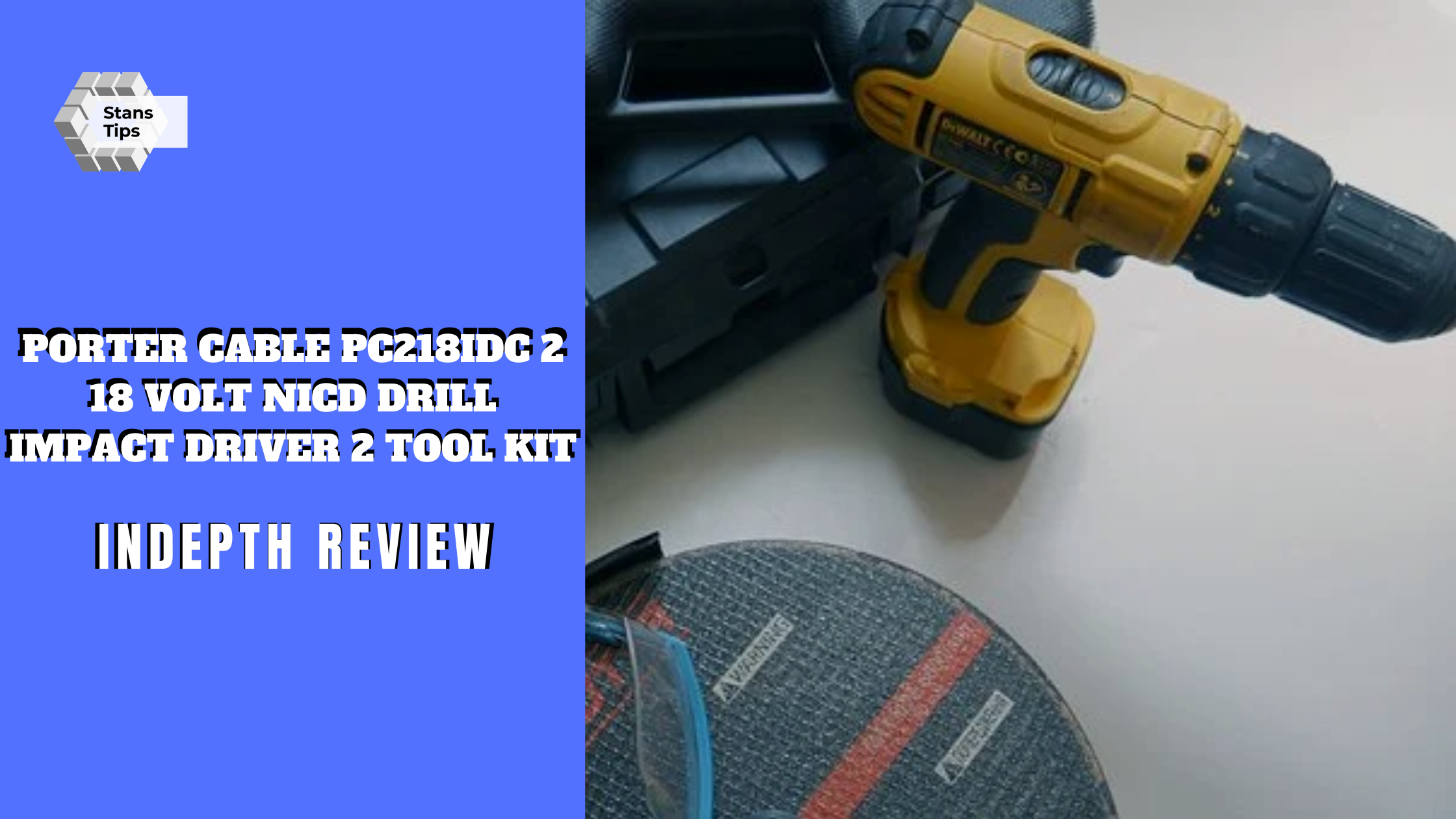 Porter cable pc218idc 2 18 volt nicd drill impact driver 2 tool kit review