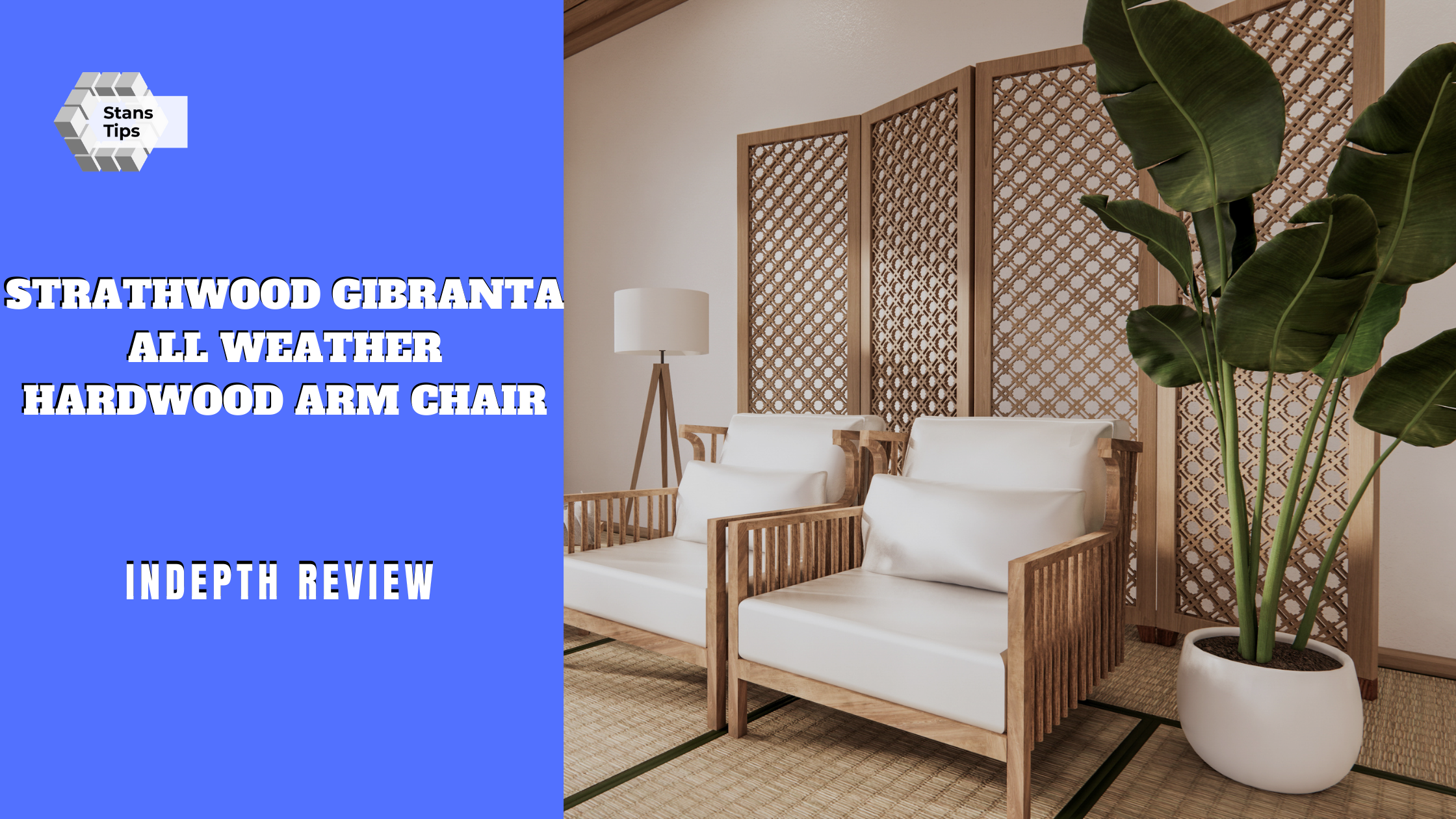 Strathwood gibranta all weather hardwood arm chair review