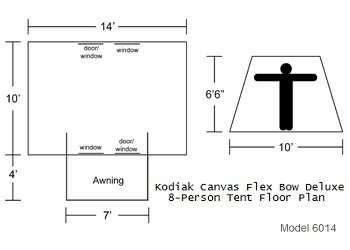 Flex-Bow Deluxe 8P Floor Plan