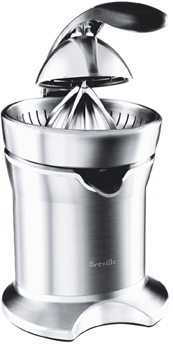 Breville 800cpxl diecast stainlesssteel motorized citrus press