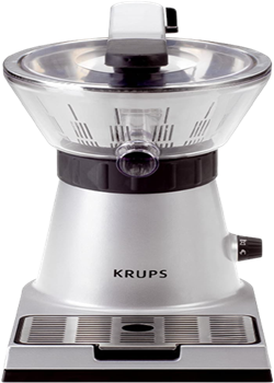 Krups zx7000 stainless steel electric citrus press with manual and automatic settings