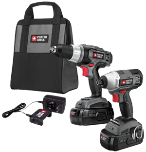 Porter cable pc218idc 2 18 volt nicd drill impact driver 2 tool kit