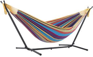 vivere uhsdo9 double hammock with space saving steel stand review
