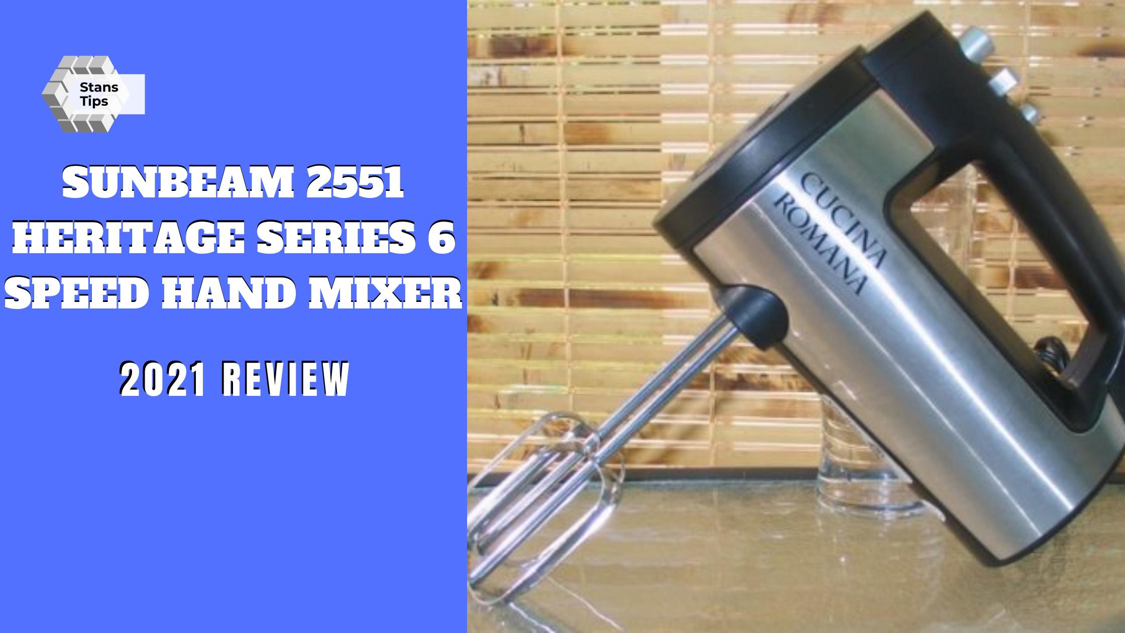 Sunbeam 2551 heritage series 6 speed 250 watt hand mixer review