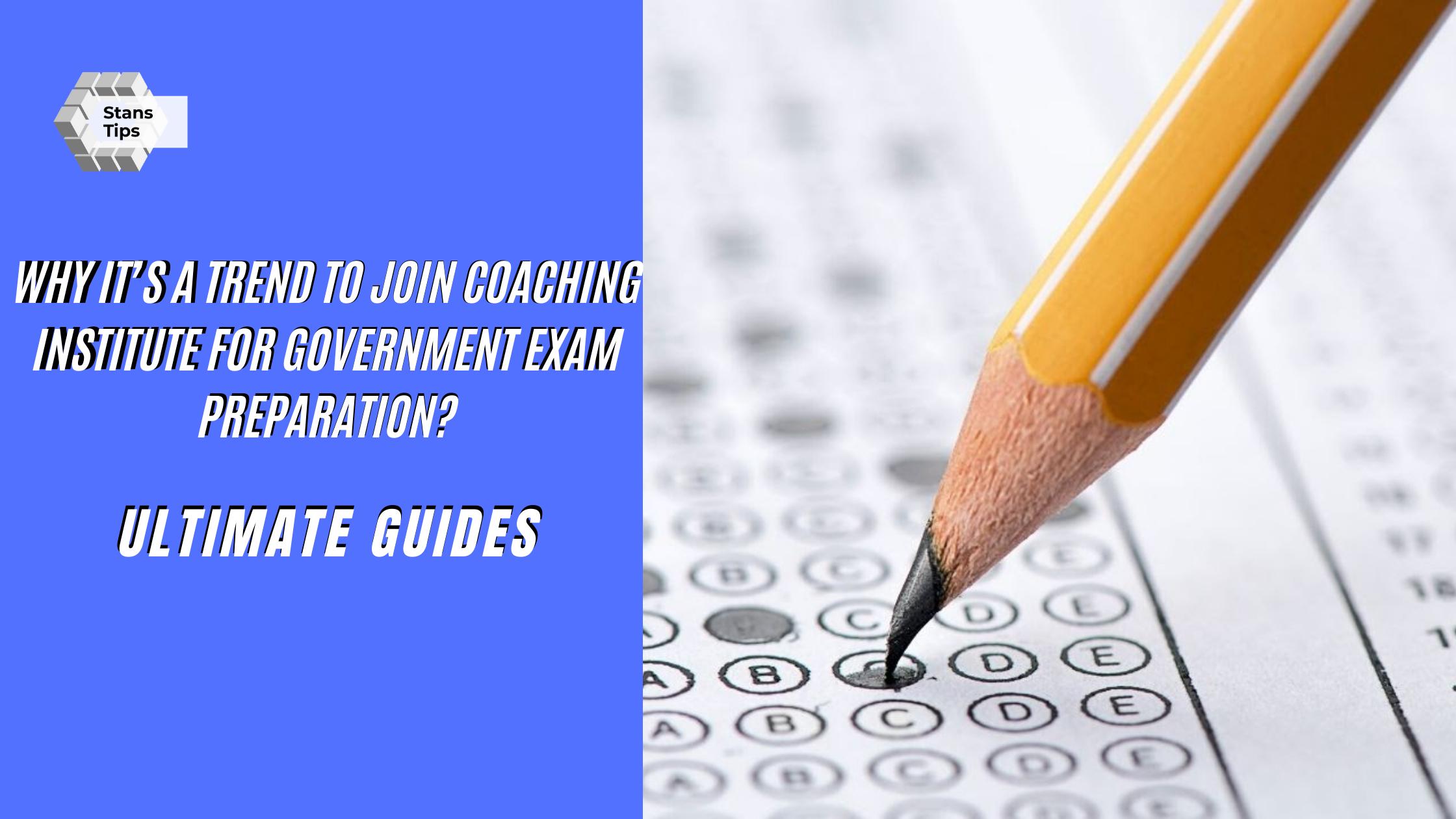 Coaching institute for government exam preparation